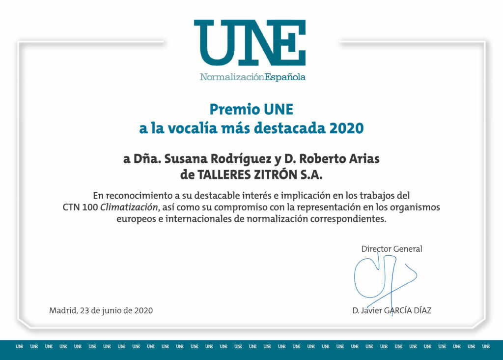 UNE Awards 2020 granted to Zitrón